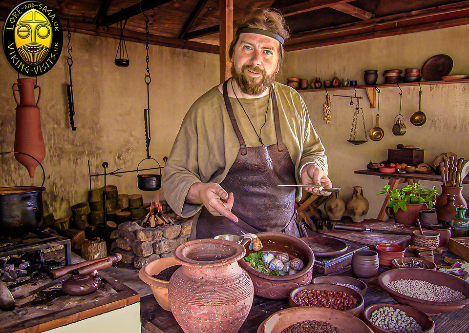 A Roman Kitchen presentation for schools at Chedworth Roman Villa. - Image copyrighted © Gary Waidson. All rights reserved.