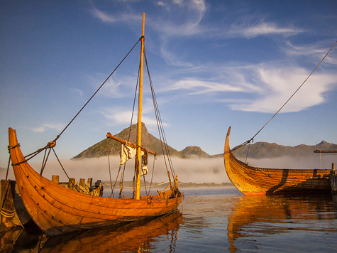 Viking Boats at rest byin port. - Image copyrighted © Gary Waidson. All rights reserved.