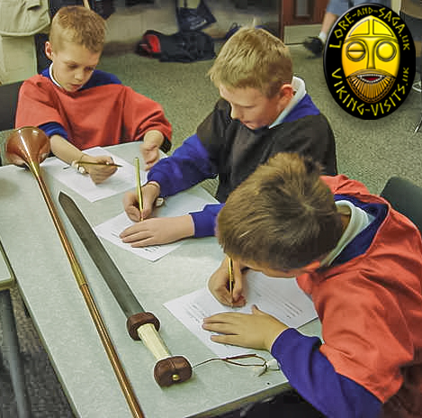 A handling and drawing session as part of a Roman in-school activity day. - Image copyrighted © Gary Waidson. All rights reserved.