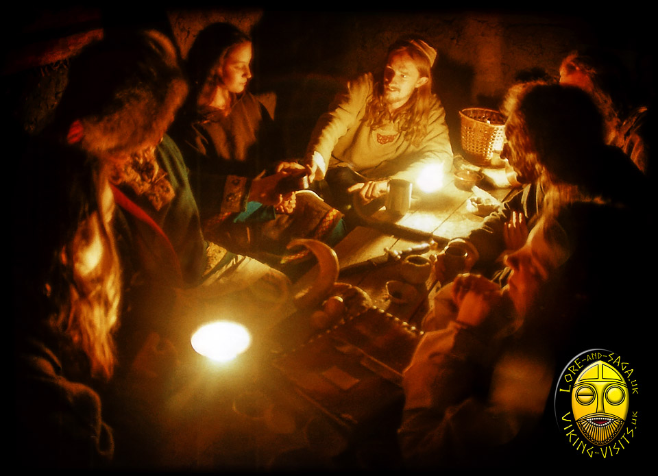 StoryTelling in the Longhhouse at Danelaw Viking Village - Image copyrighted © Gary Waidson. All rights reserved.