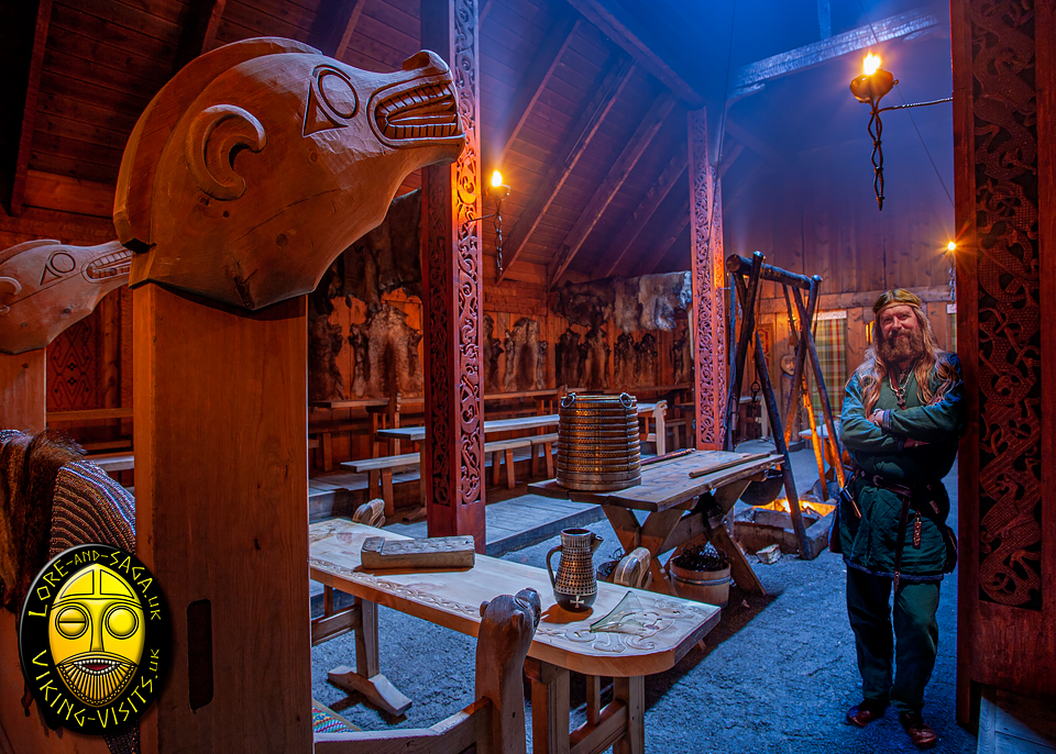 Wayland in the Great hall at Lofotr Viking Museum - Image copyrighted © Gary Waidson. All rights reserved.