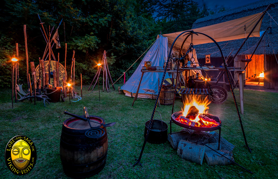 Viking Living History Camp at Night. Image copyrighted © Gary Waidson. All rights reserved.