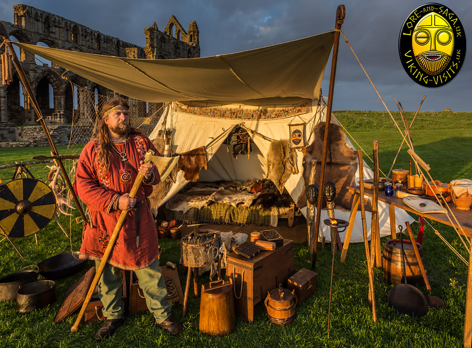 A Viking living history display set up at Whitby abbey.- Image copyrighted © Gary Waidson. All rights reserved.